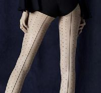 Fiore Intrigue Spotted Seamed Tights